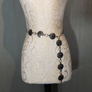 Silver Metal Adjustable Decorative Belt boho cowgi